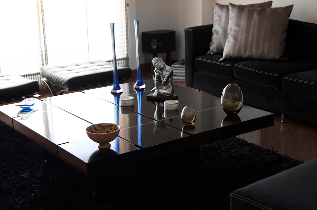 Gentleman  Apartament  ( apartamento para hombre soltero) : Salas de estilo  por MARECO DESIGN S.A.S, Moderno