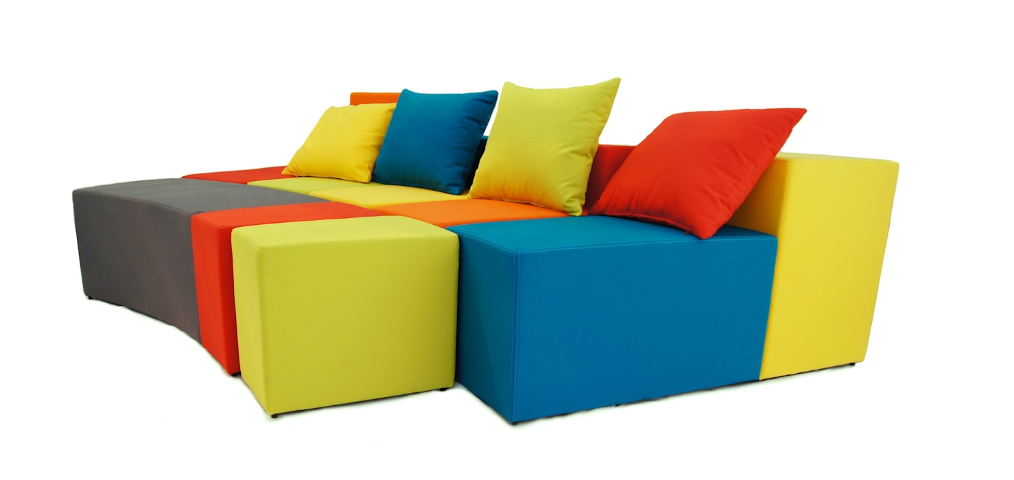 Sofá divertido para cuarto infantil. sofá rainbow: dormitorios de ...