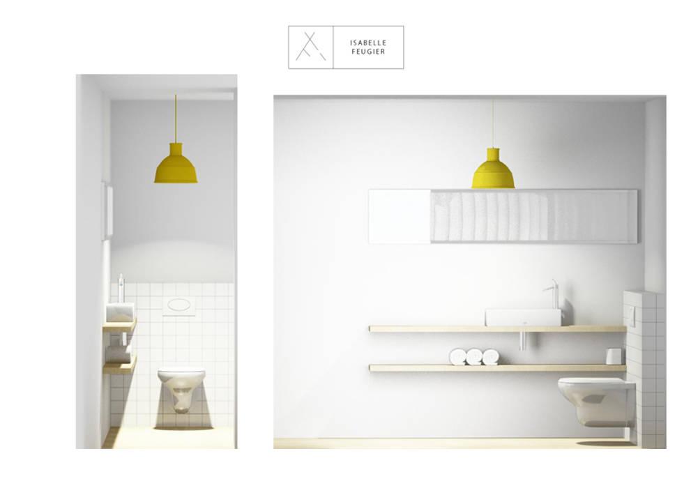 Toilettes: Salle de bains de style  par SLOWOOD / MOUVANCE DESIGN