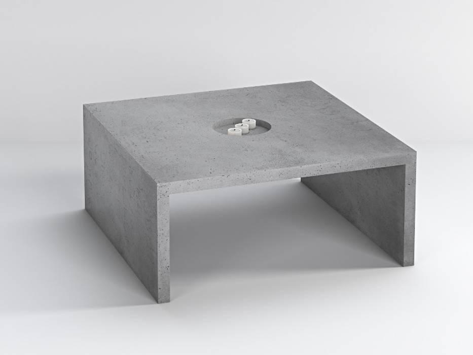 Concrete furnitures bettoni soggiorno minimalista di for Soggiorno minimalista