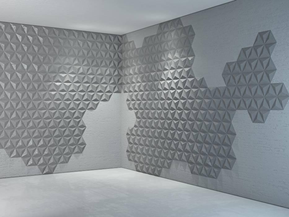 Concrete panels Bettoni Dinding & Lantai Minimalis Oleh DecoMania.pl Minimalis