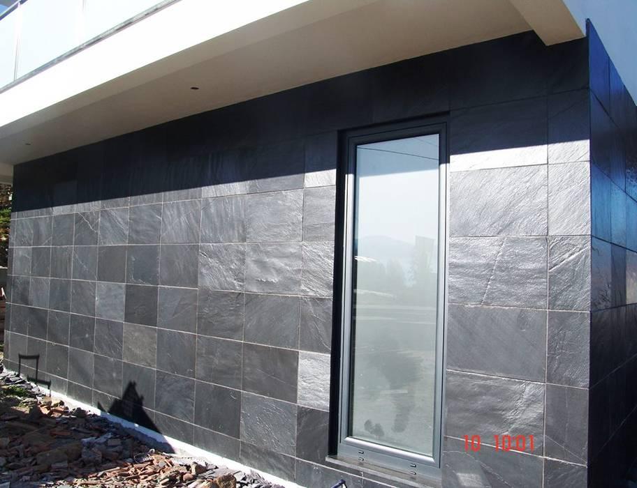 Revestimento de fachada em Ardosia BELGRAN, LDA Paredes e pisos modernos Ardósia Cinzento