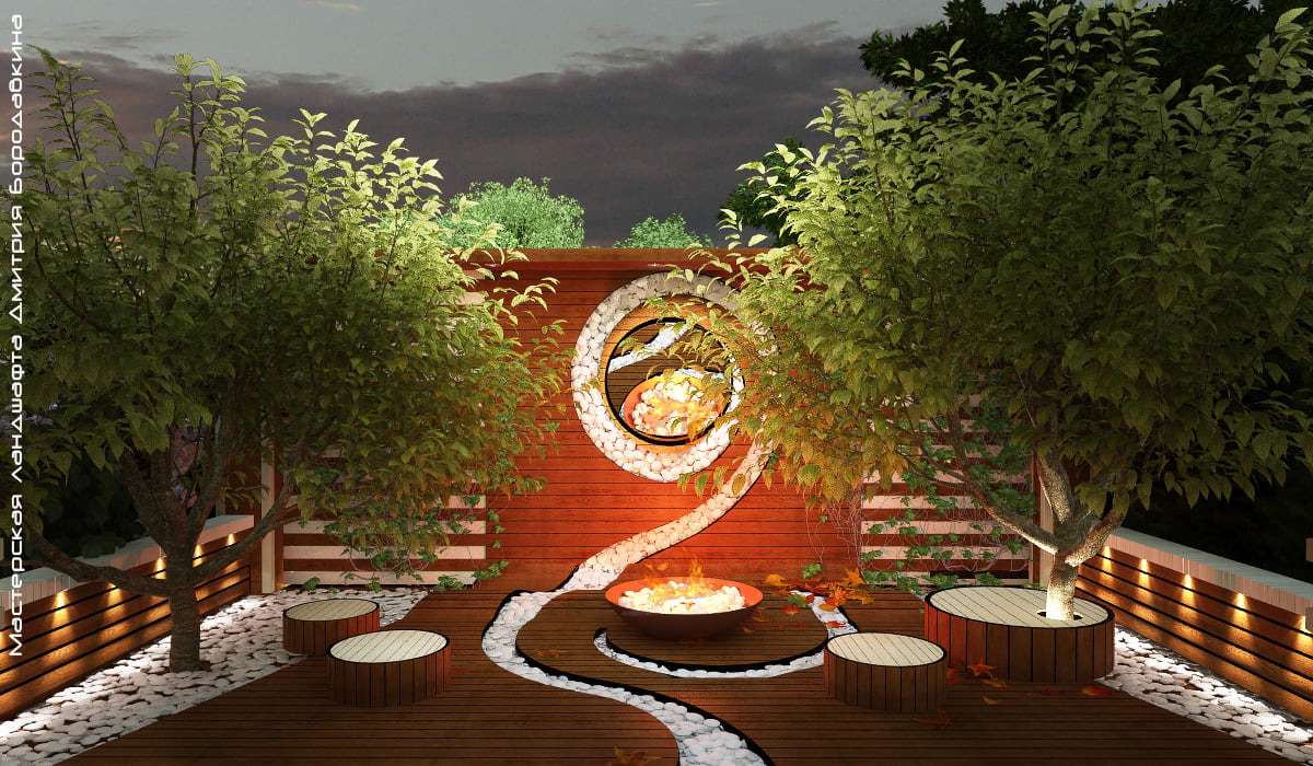 Jardines de estilo minimalista de Мастерская ландшафта Дмитрия Бородавкина Minimalista