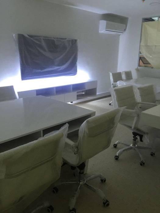 Felipe Lara & Cía Modern commercial spaces Natural Fibre White