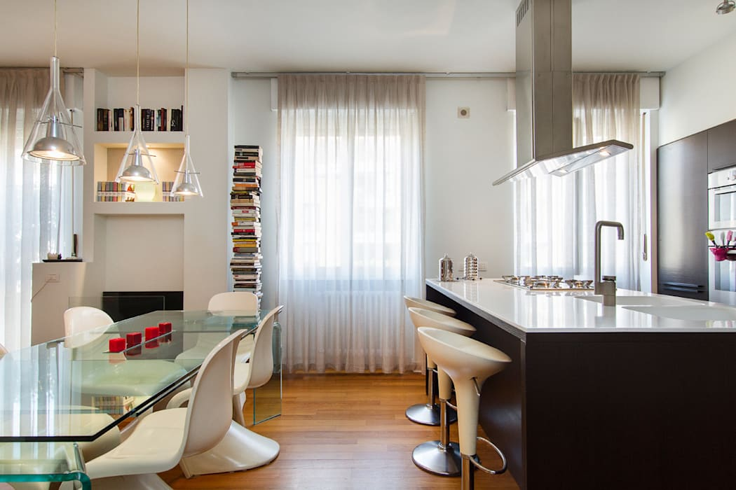 Cucina e pranzo : Soggiorno in stile in stile Moderno di Fabio Carria