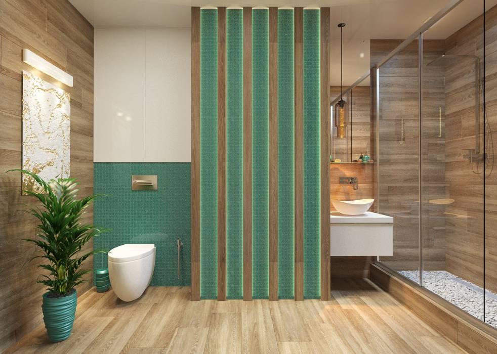 Проект квартиры для молодой пары с ребенком.: Ванные комнаты в . Автор – Katerina Butenko, Эклектичный