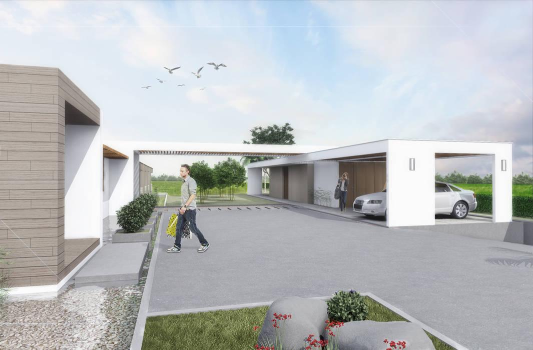 Acceso: Casas de estilo  por Ar4 Arquitectos