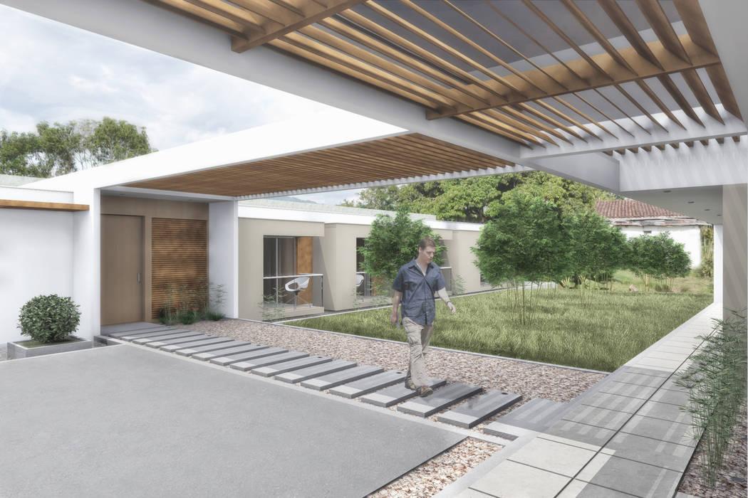 Acceso privado : Casas de estilo minimalista por Ar4 Arquitectos