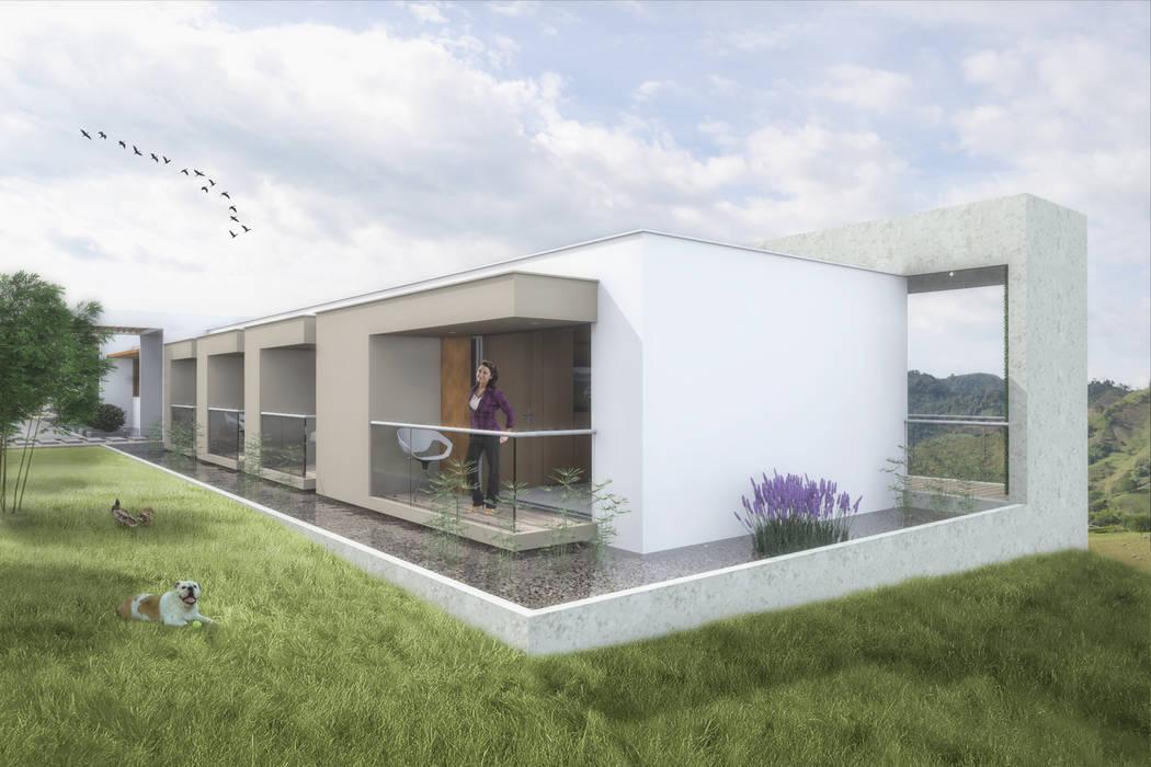 Habitaciones Balcones y terrazas de estilo minimalista de Ar4 Arquitectos Minimalista