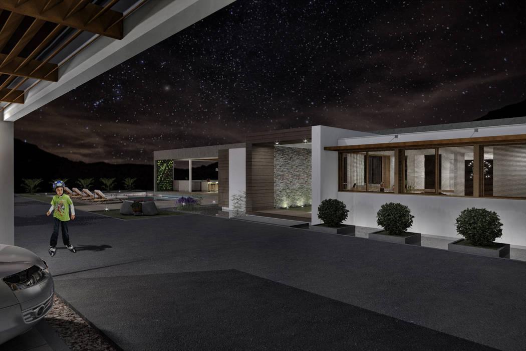 Vista exterior nocturna Casas de estilo minimalista de Ar4 Arquitectos Minimalista