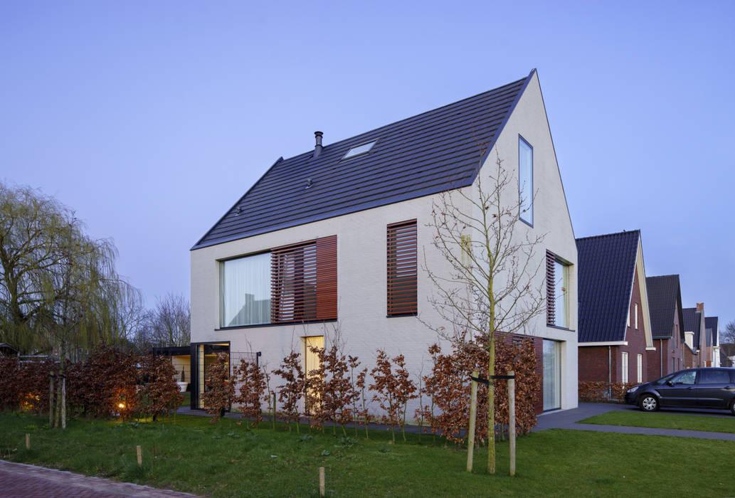 vrijstaand woonhuis particulier Moderne huizen van JMW architecten Modern Stenen