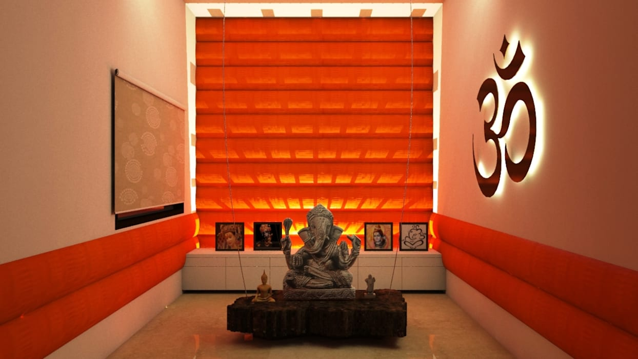 Residence : Ranjit Avenue TULI ARCHITECTS AND ENGINEERS Modern walls & floors Textile Amber/Gold