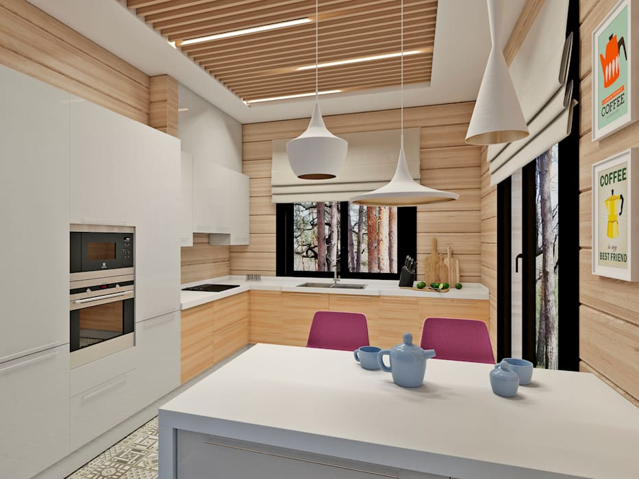 Be In Art Eclectic style kitchen