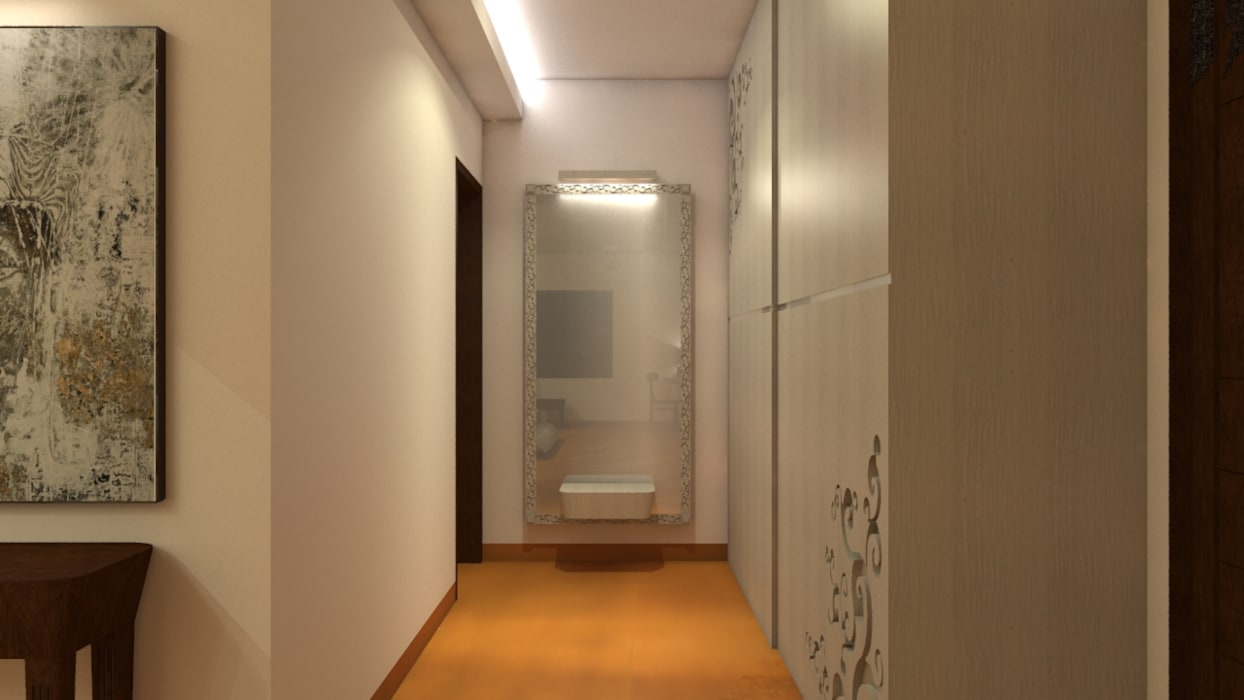 Residence : Ranjit Avenue:  Dressing room by TULI ARCHITECTS AND ENGINEERS