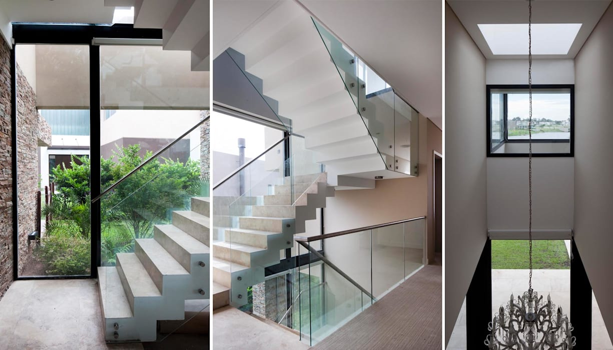 Modern Corridor, Hallway and Staircase by Speziale Linares arquitectos Modern