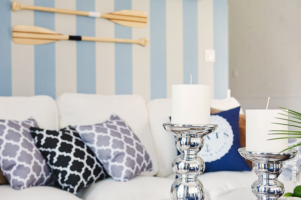 Apartament Błonia Hamptons Eklektyczny salon od DreamHouse.info.pl Eklektyczny