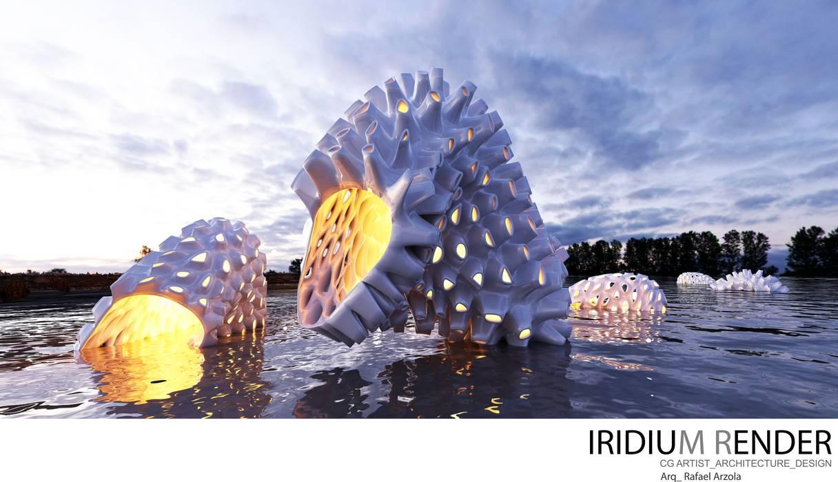 Lake formations Casas estilo moderno: ideas, arquitectura e imágenes de IRIDIUM_RENDER (DISEÑO ARQUITECTÓNICO DIGITAL AVANZADO) Moderno