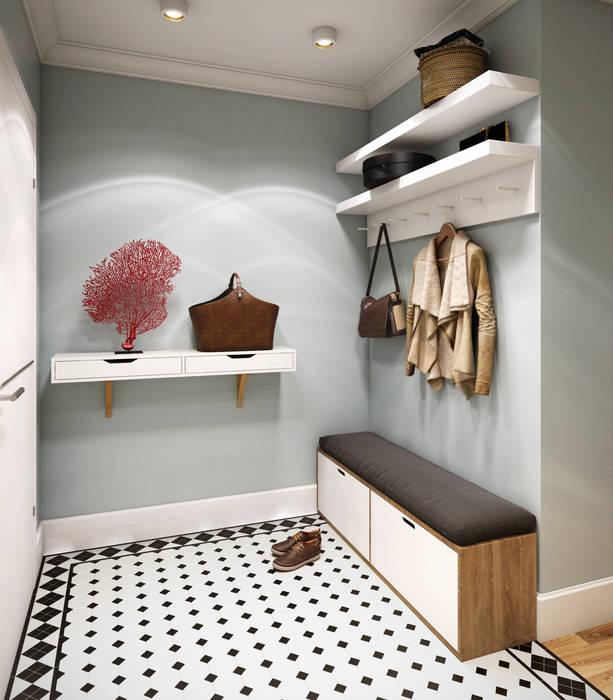 Scandinavian style corridor, hallway& stairs by CO:interior Scandinavian