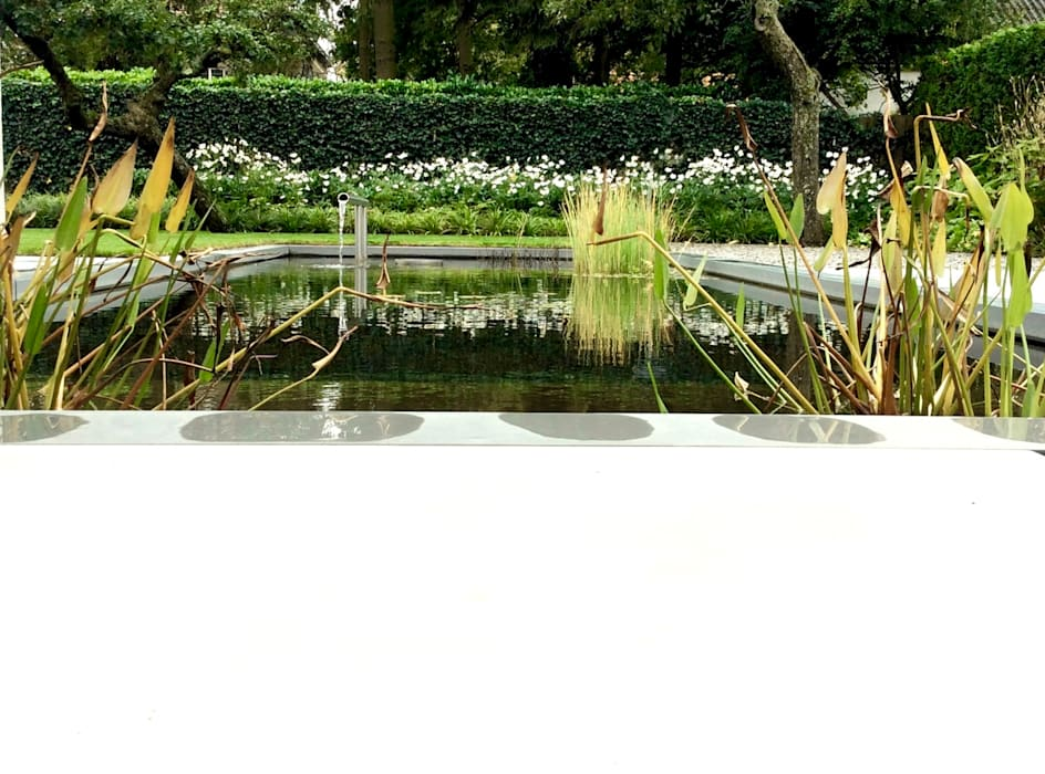 Strakke Vijver Met Waterspel Tuin Door Stoop Tuinen Homify