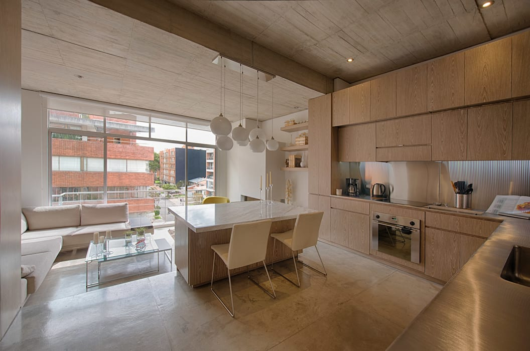 Kitchen by MEMA Arquitectos, Modern