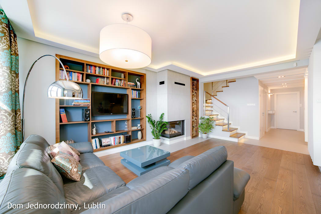 Salas de estar modernas por Auraprojekt Moderno