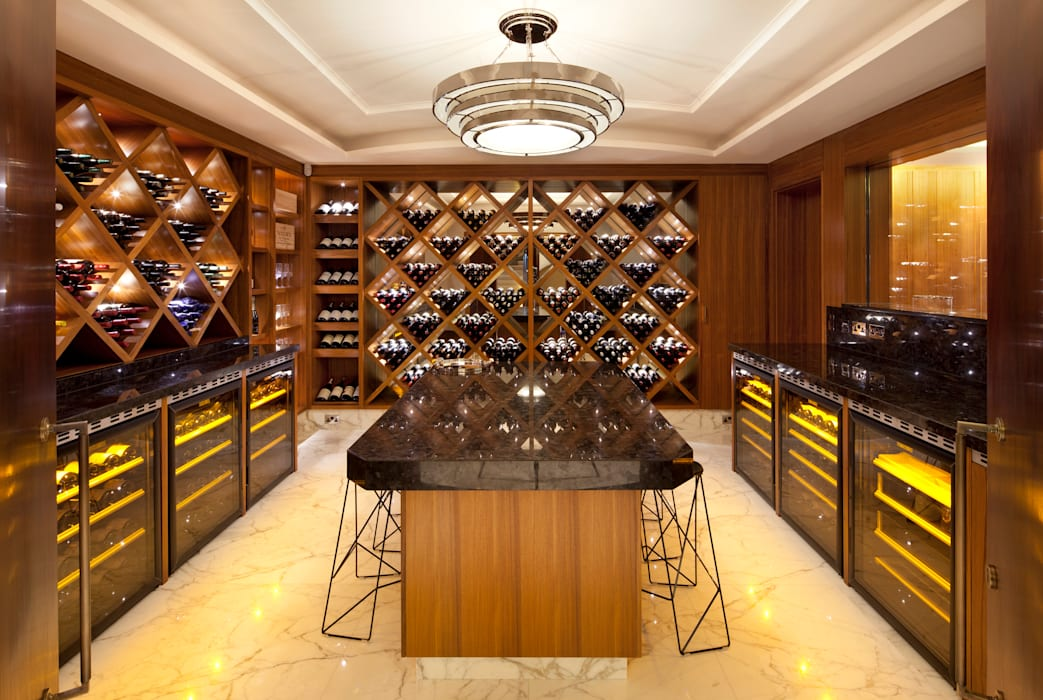 KSR Architects | Two Houses | Wine cellar Classic style wine cellar by KSR Architects Classic