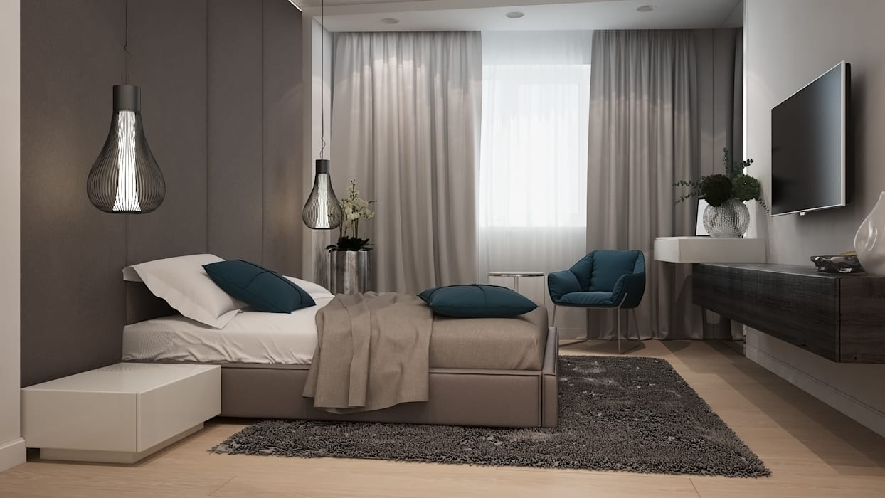 Спальня Спальня в стиле минимализм от GK DESIGN Минимализм