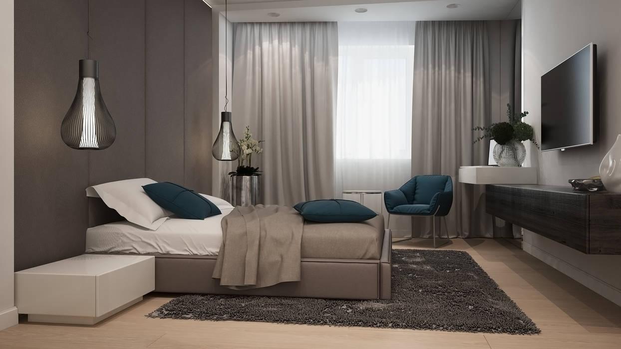 Chambre minimaliste par GK DESIGN Minimaliste