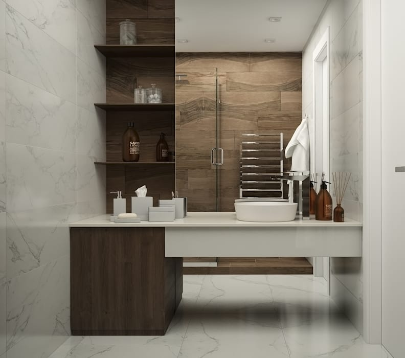 Ванная Ванная комната в стиле минимализм от GK DESIGN Минимализм