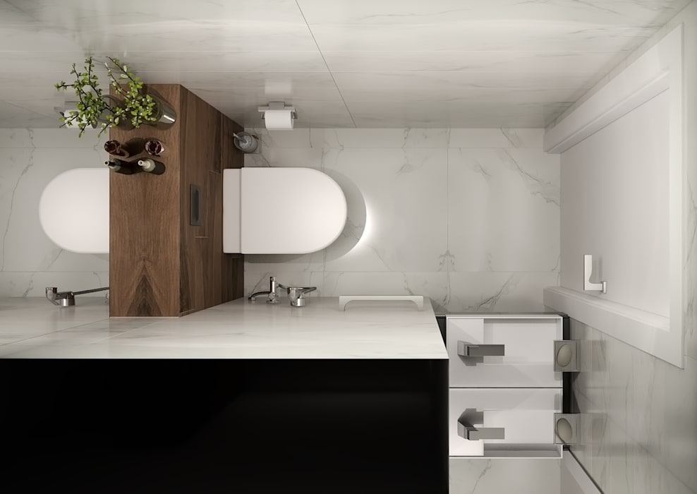 Salle de bain minimaliste par GK DESIGN Minimaliste