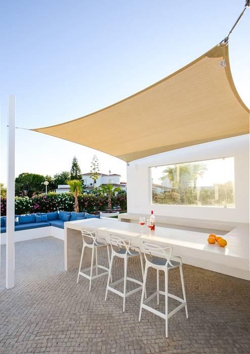 bar da piscina Varandas, alpendres e terraços mediterrâneo por homify Mediterrâneo