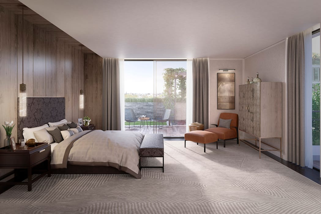 The Cricketers Folio Design Modern style bedroom