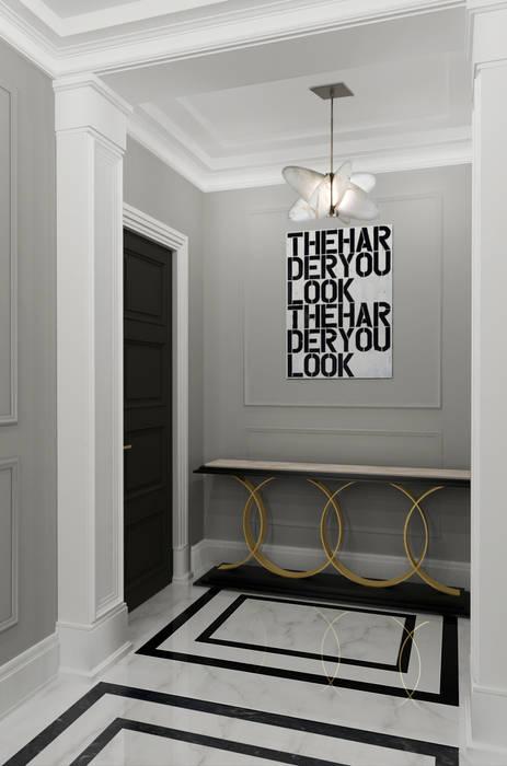 Pasillos, vestíbulos y escaleras de estilo ecléctico de Ekaterina Kozlova Ecléctico Mármol