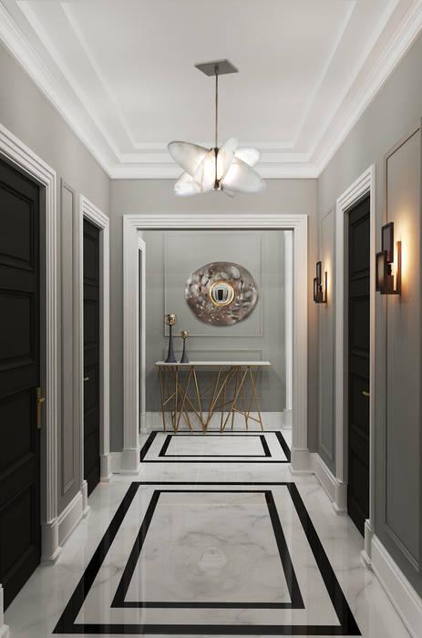 Couloir, entrée, escaliers originaux par Ekaterina Kozlova Éclectique Marbre