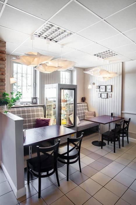 Nastrojowa cukiernia: styl , w kategorii Gastronomia zaprojektowany przez Viva Design - projektowanie wnętrz