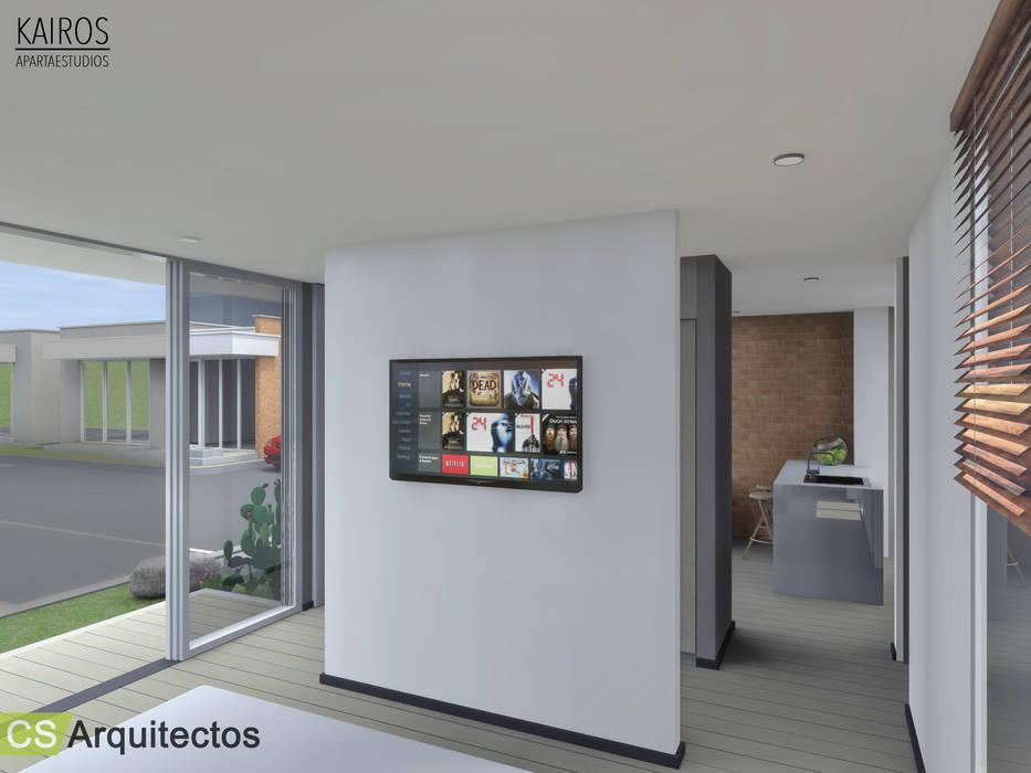 Kairos Apartaestudios Habitaciones de estilo minimalista de CS Arquitectos Minimalista
