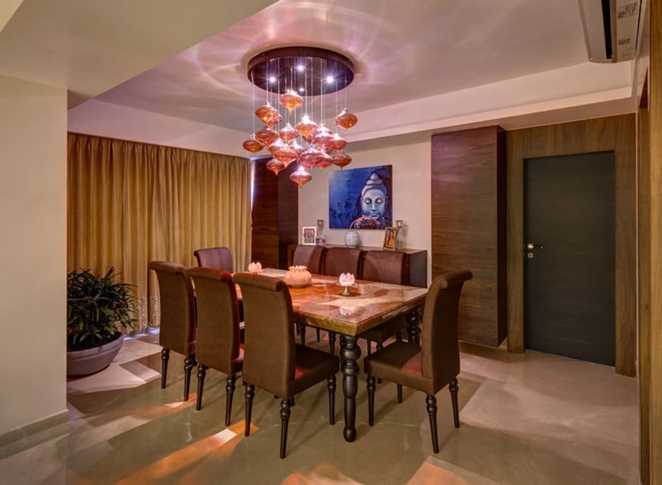 Agarwal Residence:  Dining room by Spaces and Design