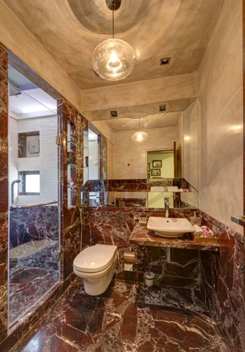 Agarwal Residence:  Bathroom by Spaces and Design