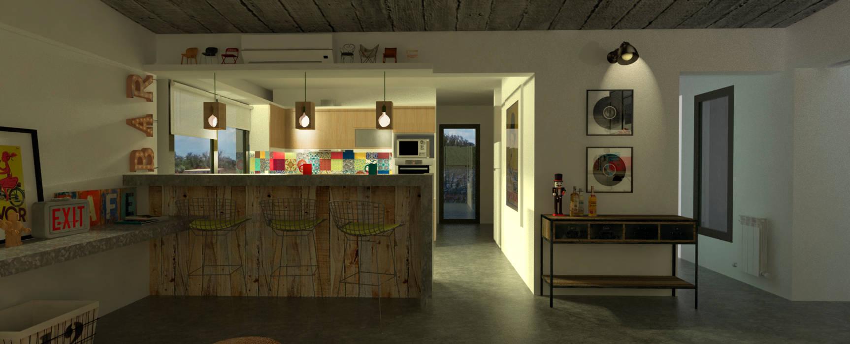 Estudio 17.30 Eclectic style kitchen