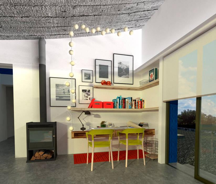 Estudio 17.30 Eclectic style study/office