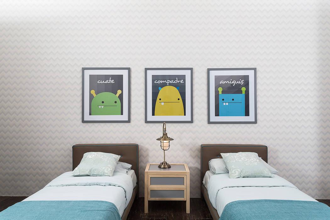 Recámara infantil con accesorios decorativos: Habitaciones infantiles de estilo  por MARIANGEL COGHLAN