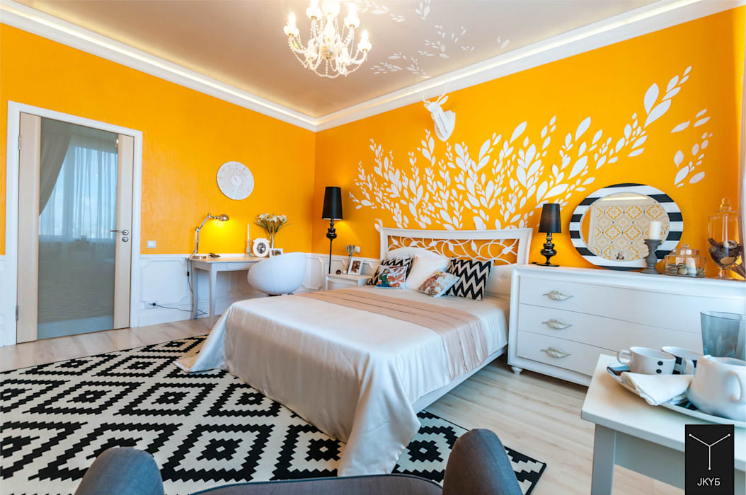 Eclectic style bedroom by Yucubedesign Eclectic