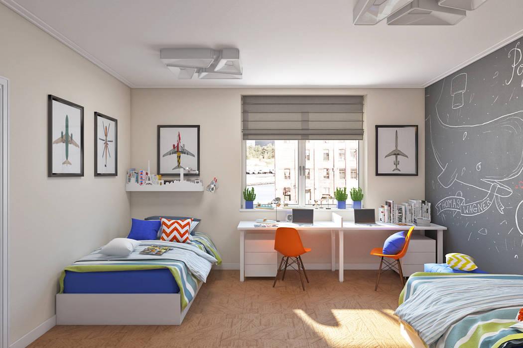 IdeasMarket Estudios y despachos de estilo ecléctico Tablero DM Blanco