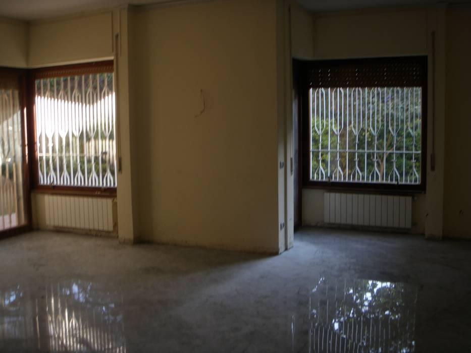 salone prima del restyling architetto Lorella Casola