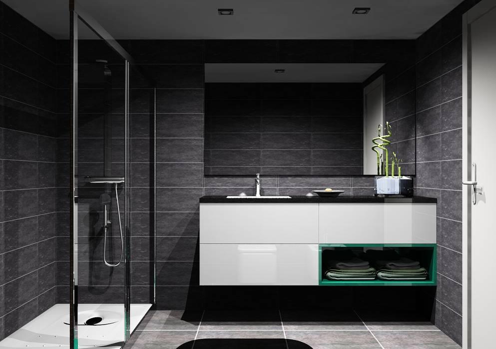 Salle de bains de style  par Amplitude - Mobiliário lda, Moderne