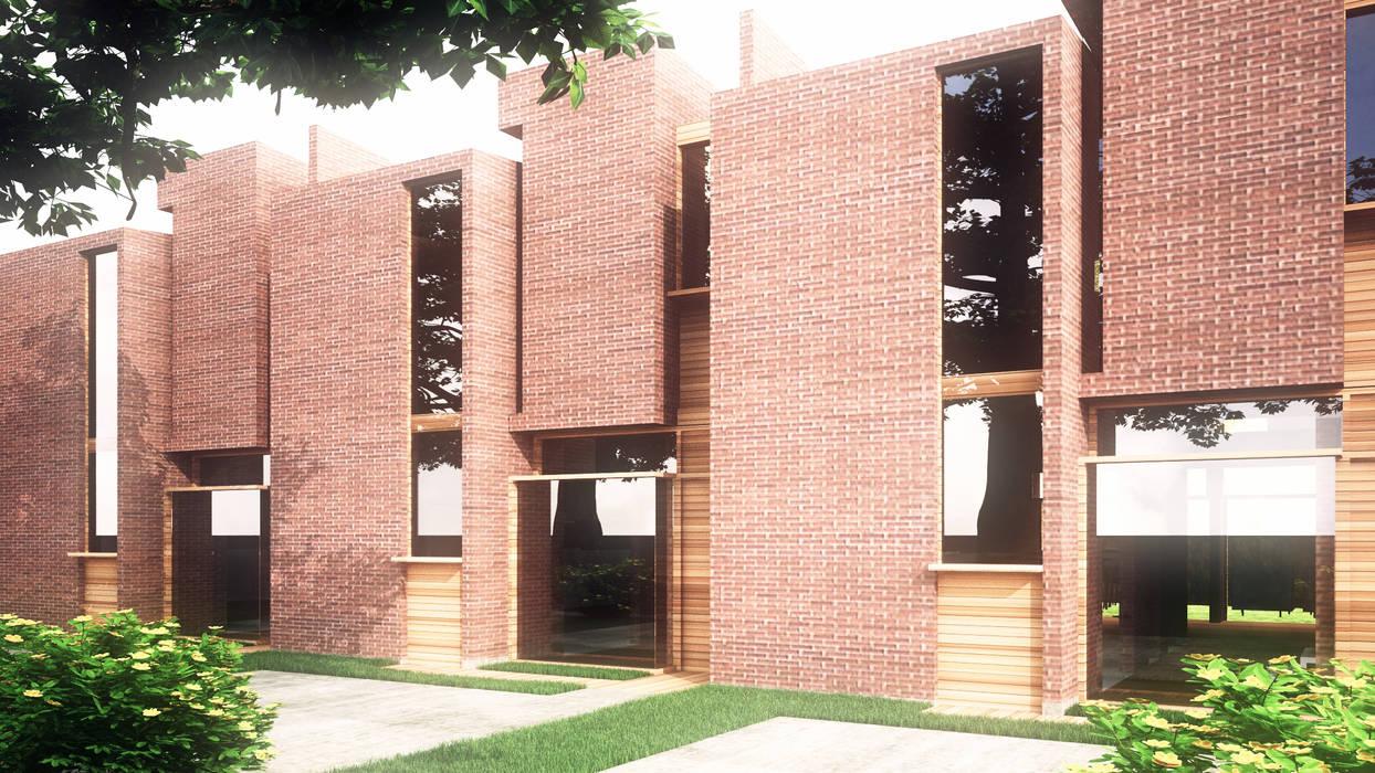 Town Houses Casas de estilo ecléctico de Odart Graterol Arquitecto Ecléctico Ladrillos