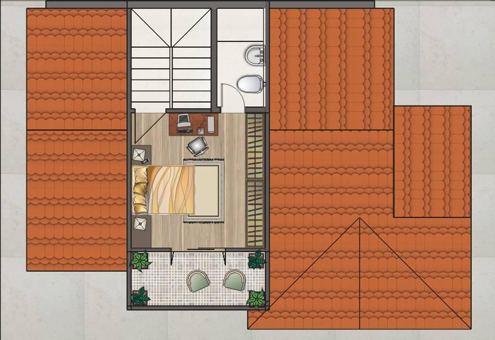 Дома в . Автор – Graziela Alessio Arquitetura, Кантри Твердая древесина Многоцветный