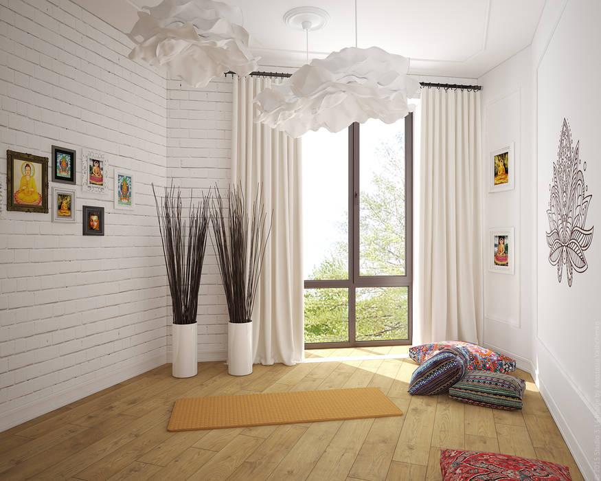 Комната для йоги. Лофт по-восточному: Тренажерные комнаты в . Автор – «Студия 3.14», Лофт