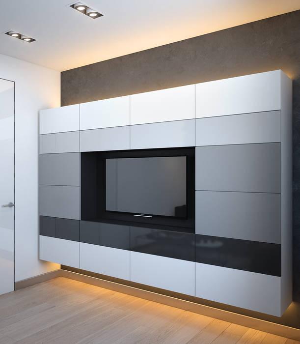 SVAI Studio Salas multimedia de estilo minimalista