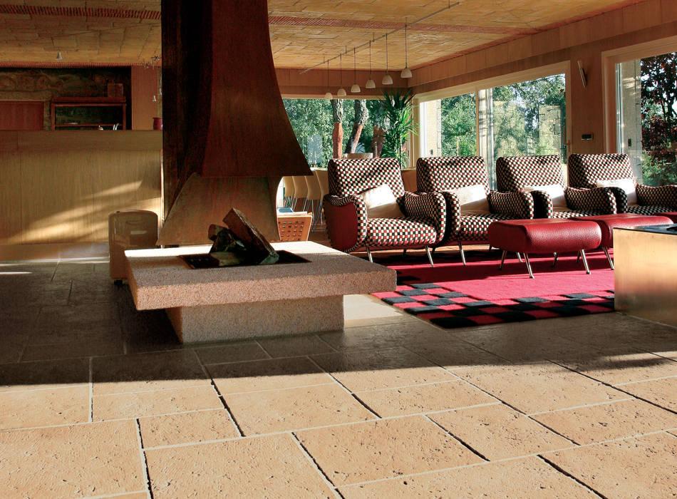 Pavimento Fabistone Secular Salas de estar rústicas por Fabistone Rústico